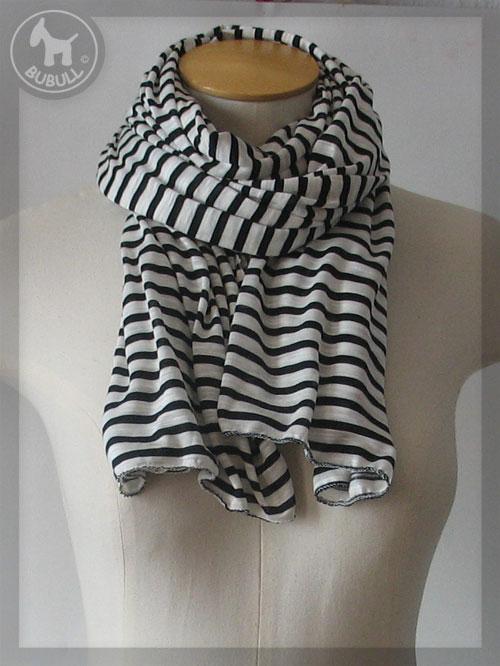 b05d4ba145e7 foulard femme noir et blanc