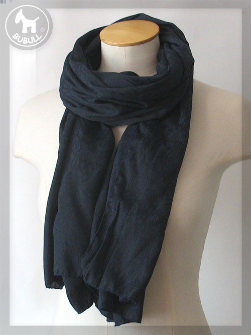 1ed3c93aac94 Foulard femme bleu marine echarpe laine et soie femme   Zebux