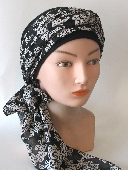 bonnet turban noir ref 1361. Black Bedroom Furniture Sets. Home Design Ideas