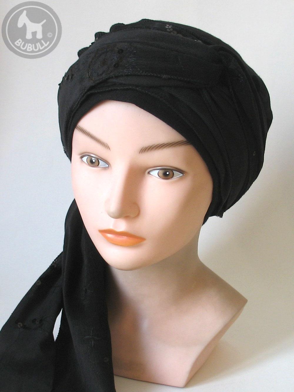 b ret turban noir ref 1381. Black Bedroom Furniture Sets. Home Design Ideas