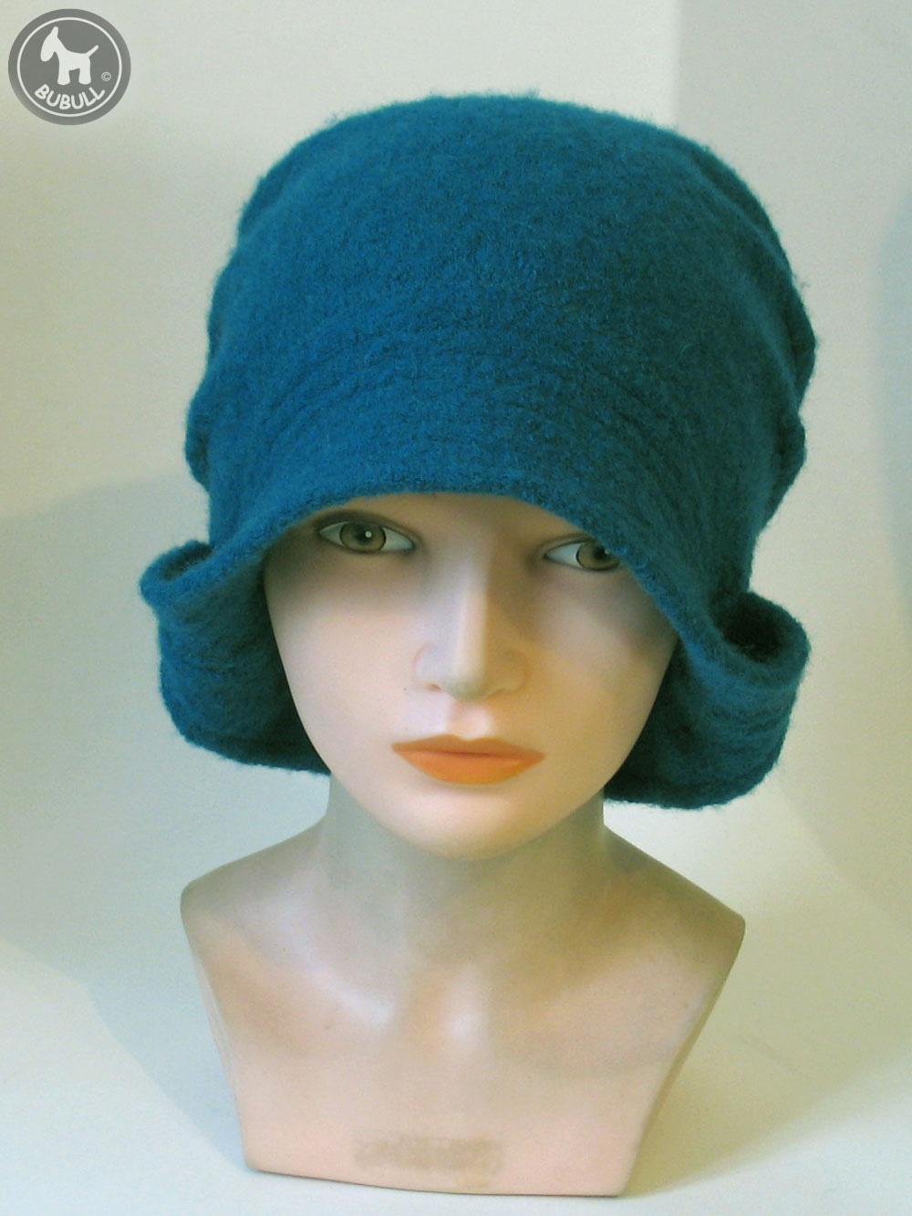 chapeau bleu canard laine ref 1387. Black Bedroom Furniture Sets. Home Design Ideas
