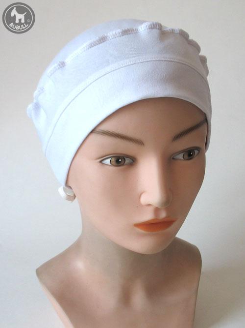 bonnet blanc cotton cap ref 1428. Black Bedroom Furniture Sets. Home Design Ideas