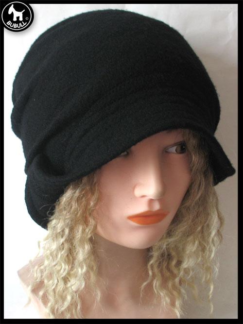 chapeau laine noir ref 871. Black Bedroom Furniture Sets. Home Design Ideas