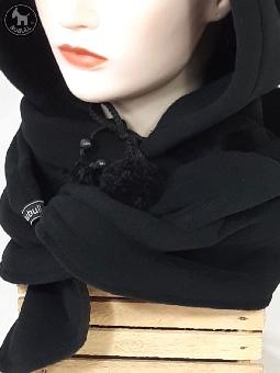 Echarpe capuche noire ref 1847 bubull.fr 6b3d21e3859